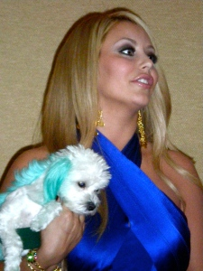 Aubrey O'Day with with Ginger
